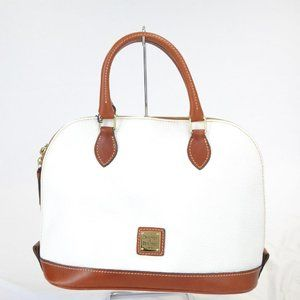 D & B Pebbled Leather Satchel